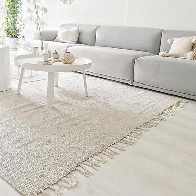 abbi oatmeal handwoven cotton rug