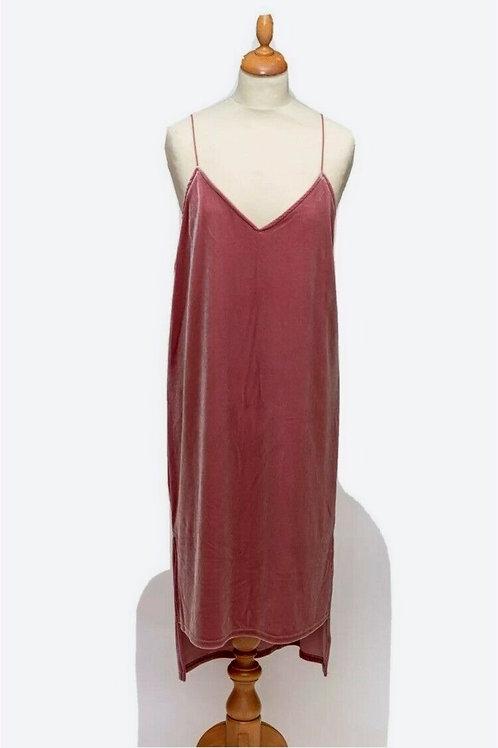 BNWT Olive pink velvet slip dress   size 10-12
