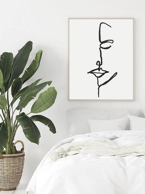 original line art | peaceful woman
