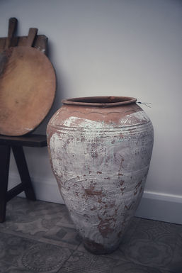 antique Mediterranean olive pot