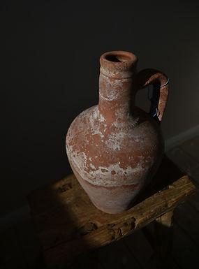 ~Merve~ antique terracotta speckled red pitcher