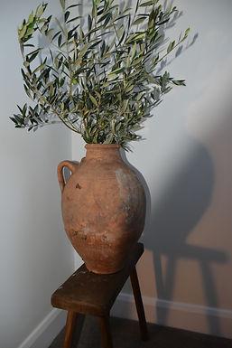 antique terracotta two-handle pot | Bozcaada