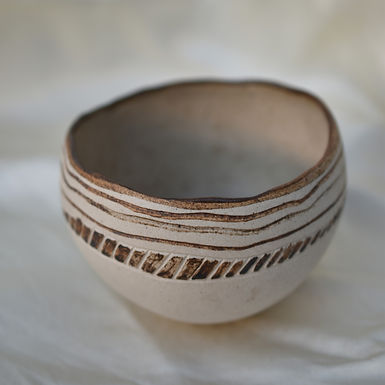 vintage handmade ceramic bowl