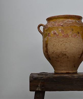 antique mustard glazed confit pot