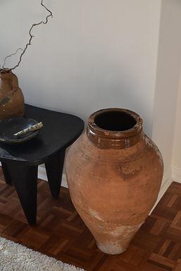 ~Nermin~ glazed-rim terracotta pot urn