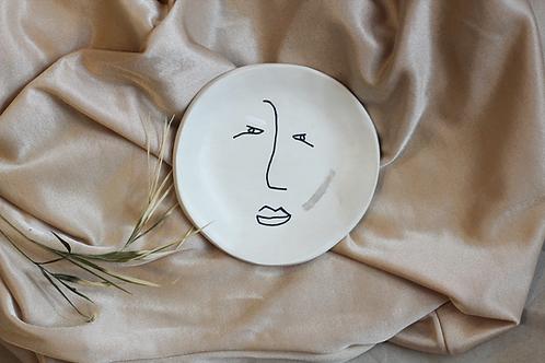 handmade line art jewellery plate