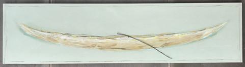 Large Seafoam Pirogue