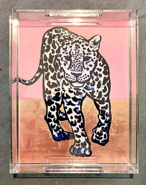 "Pink Leopard Art Tray 8.5x11"""