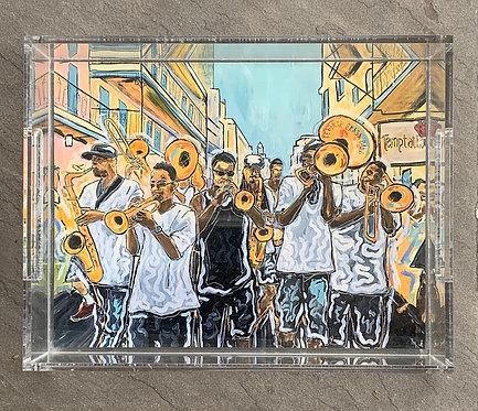 "Rebirth Brass Band Art Tray 8.5x11"""