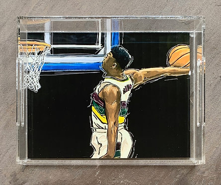 Zion Williamson Art Tray 8.5x11""