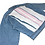 Thumbnail: 2 Pink Srtipes on White Back Blue Denim Crop Jacket