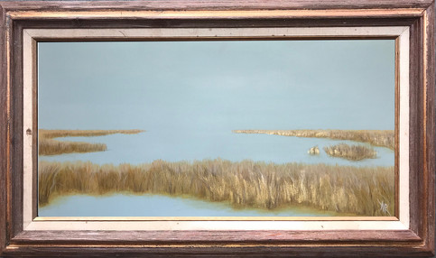 15x30 blue marsh in dark wood and gold f