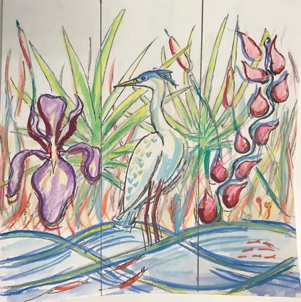 Watercolor Shoreline Hunt