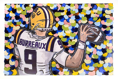 "Joe Burreaux with hand-painted background Limited Edition 20x30"" Print"
