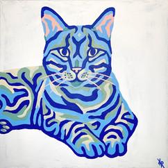 Cat Portrait 12x12