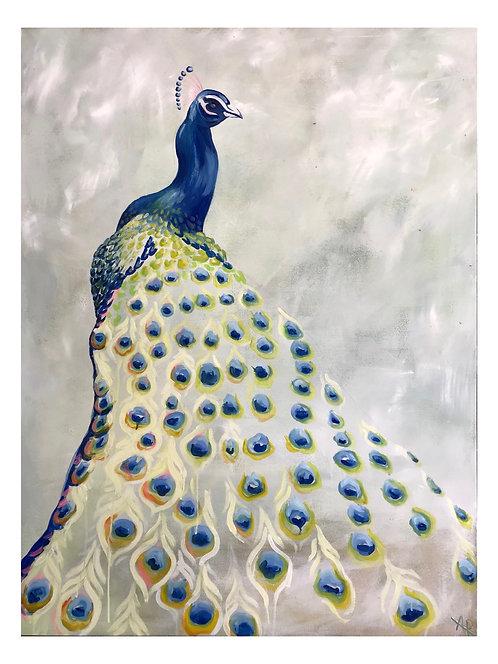 "Peacock 28x22"" Print"