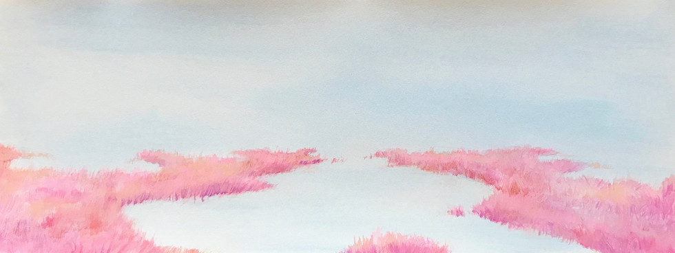 31x9 inches Watercolor & Acrylic