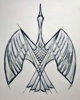 Bird In Flight (Grey)