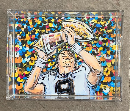 Drew Brees Art Tray 8.5x11""