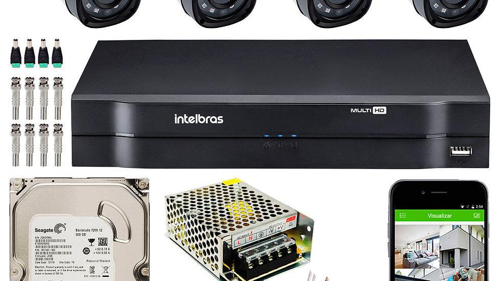 Kit Cftv Intelbras 4 Câmeras