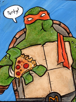 ...Michelangelo is a party dude!