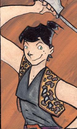 Jaguarina, queen of the sword.