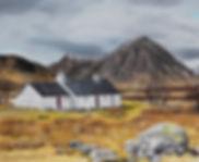 Blackrock Cottage Buchaille Etive Mhor Glencoe Oil painting