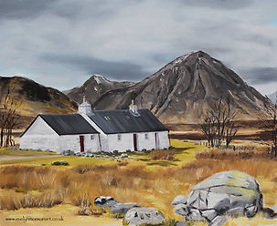 Blackrock Cottage Buchaille Etive Mhor Glencoe Oil painting