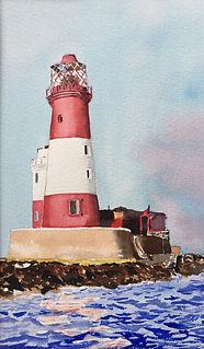 Longstone Lighthouse at Dusk