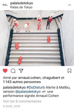 Palais de Tokyo's Instagram Page