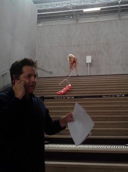 With J. de Loisy at Palais de Tokyo