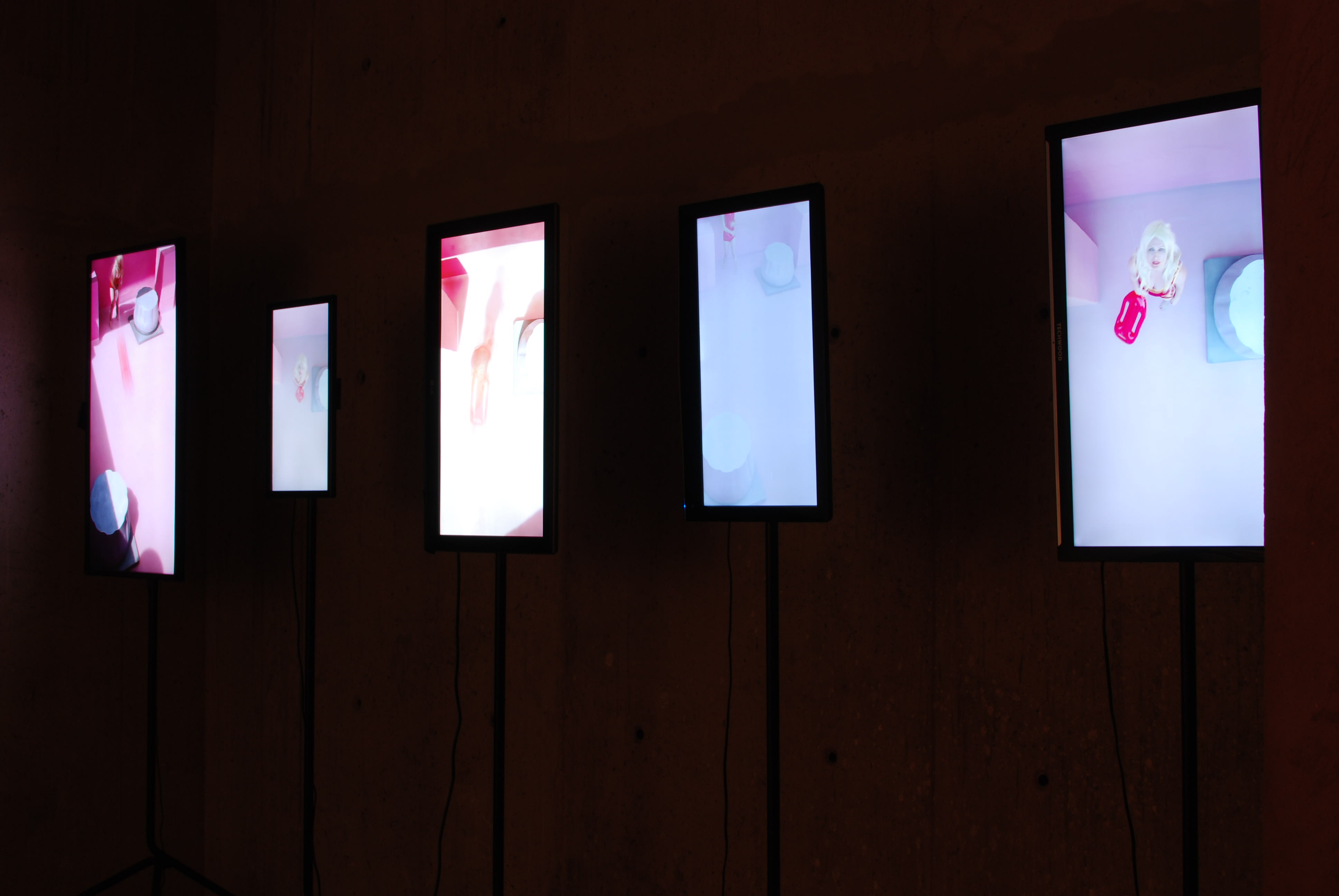 5 screen video installation, 2013