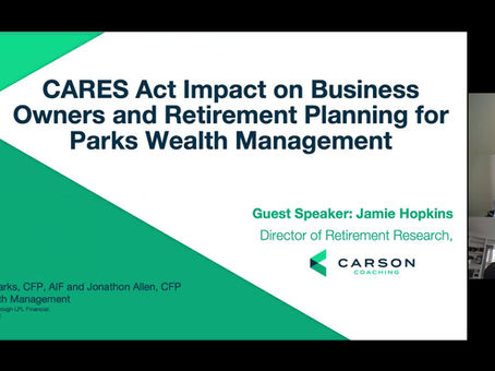 CARES Act Webinar Replay from April 24th, 2020