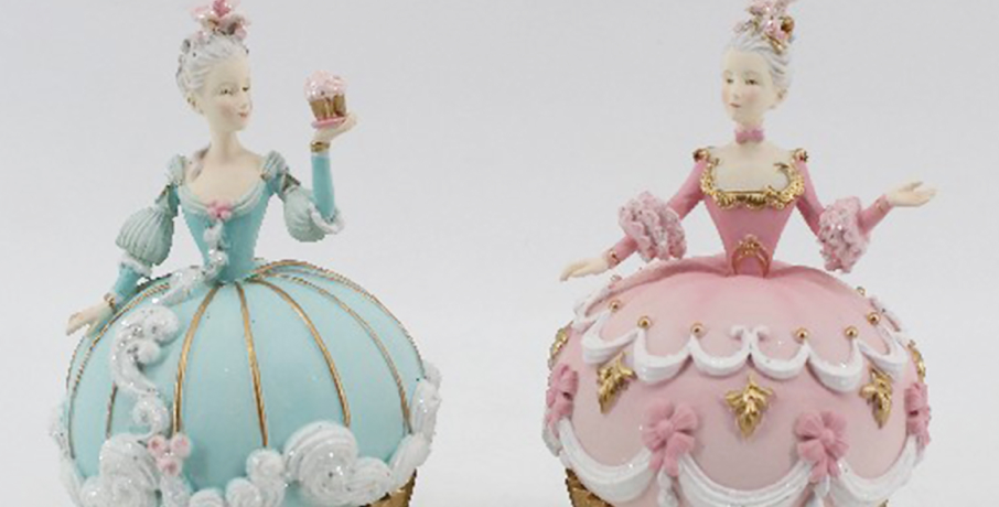 Set of 2 Marie Cupcake Covered Box Decor