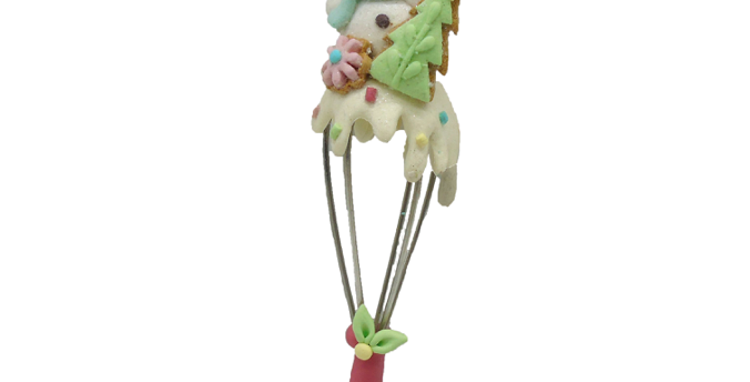 Set of 6 Sweet Shoppe Snowman Whisk Ornament