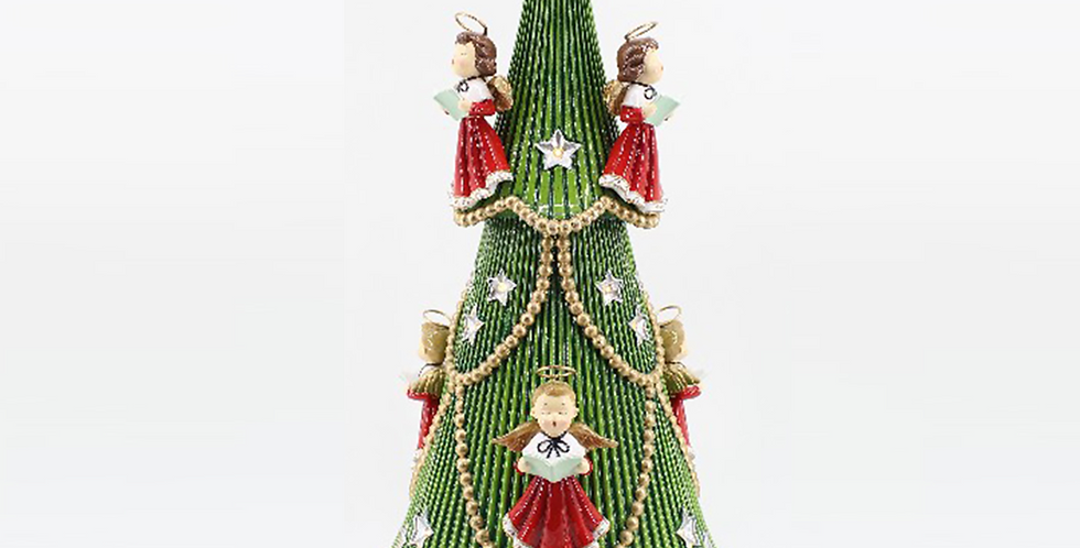 Retro LED Christmas Tree with Choir Angels