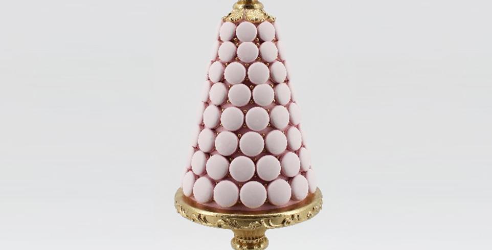 Pink Macaron Dessert Tree Display Decor