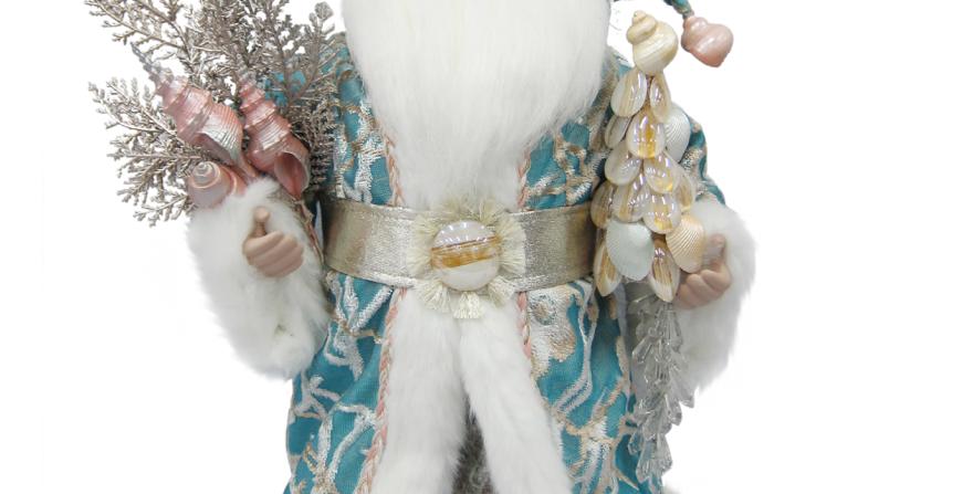 Coastal Santa in Long Coat Tabletop Decor