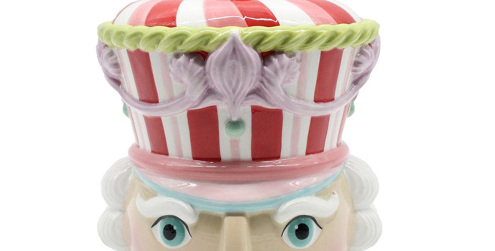 10 Inch Nutcracker Head Cookie Jar