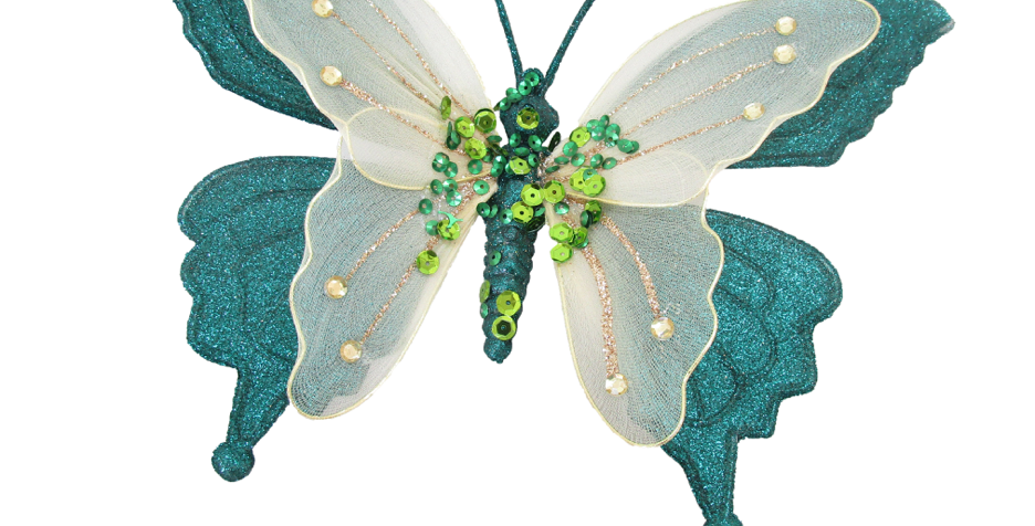 Set of 12 Double Layered Butterfly Clip Decor