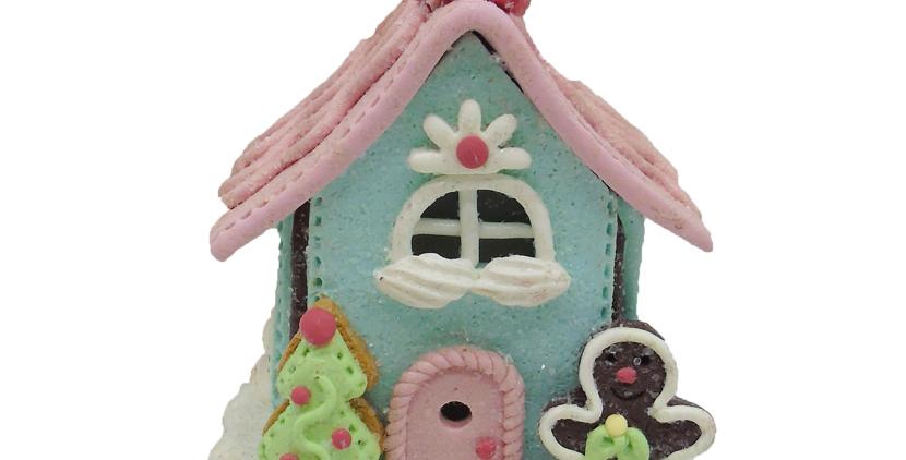 LED Lighted Cookie House Ornament
