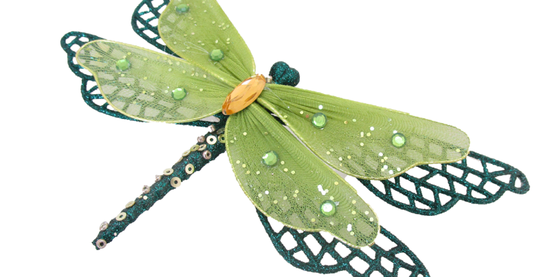 Set of 12 Dragonfly Clip Decor