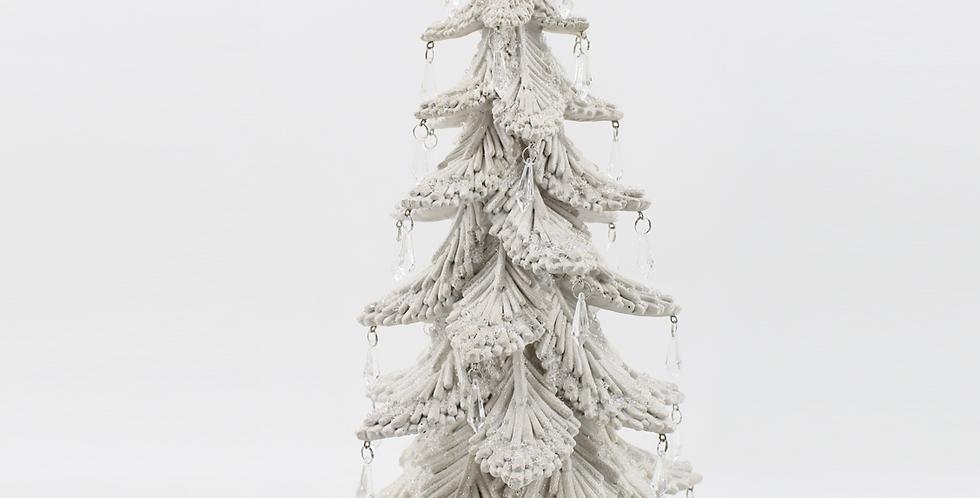 Snow Jeweled Christmas Tree