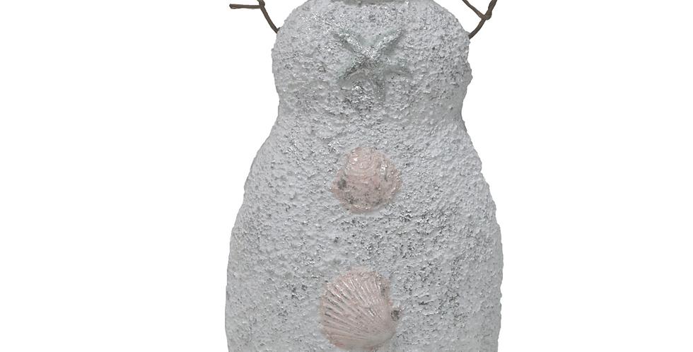Coastal Snowman with Seashells Tabletop Decor
