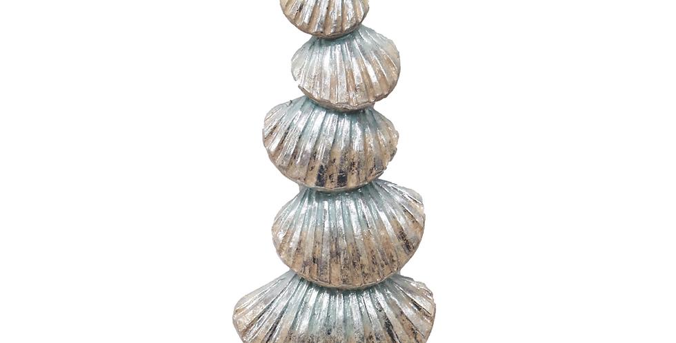 Stacked Seashell Coastal Tree Decor