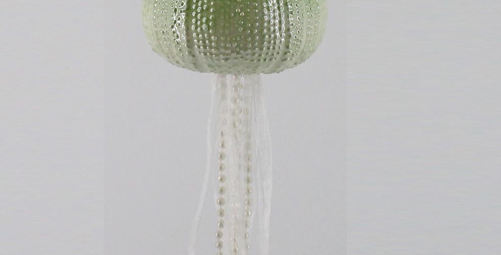 Ceramic Round Green Jellyfish Hanging Decor
