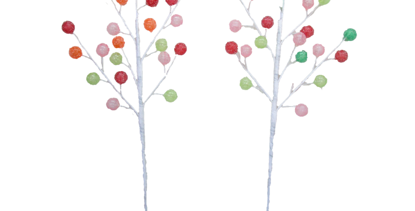Assorted Gumdrops Tree Picks Set of 12