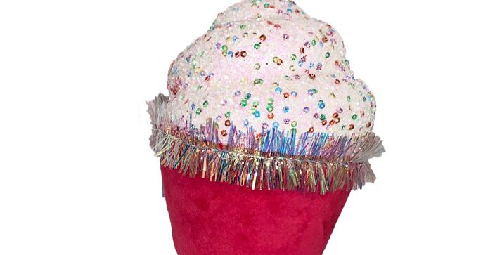 Set of 4 Pink Cupcakes Decor
