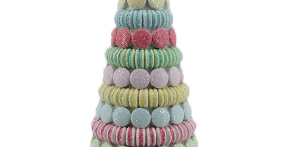 Candy Macaroon Dessert Tree on Pink Stand