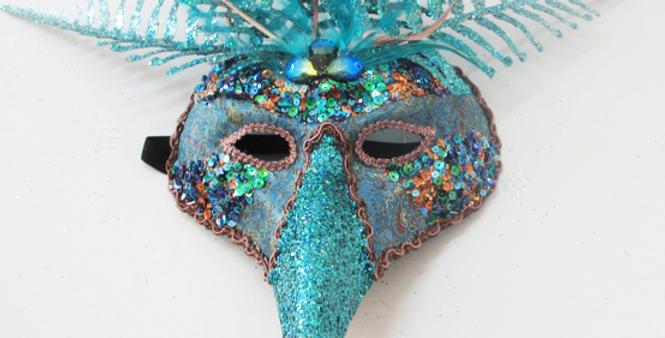 Mardi Gras Peacock Mask Decor
